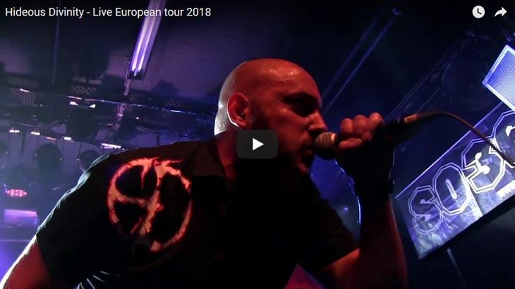 Hideous Divinity ライブビデオ「Live European tour 2018」公開