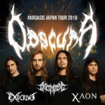 Obscura 来日公演 4月開催 サポート出演:Archspire、Exocrine、Xaon