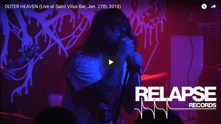 Outer Heaven ライブビデオ「Saint Vitus Bar, Jan. 27th, 2018」公開