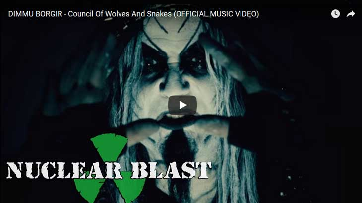 Dimmu Borgir ミュージックビデオ「Council Of Wolves And Snakes」公開