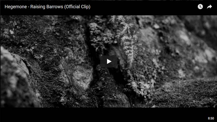 Hegemone ミュージックビデオ「Raising Barrows」公開