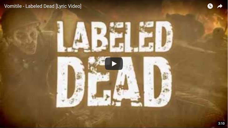 Vomitile リリックビデオ「Labeled Dead」公開